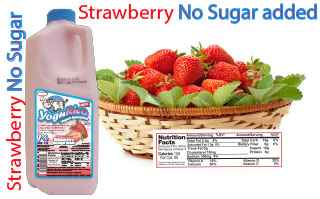 Strawberry No Sugar added slider